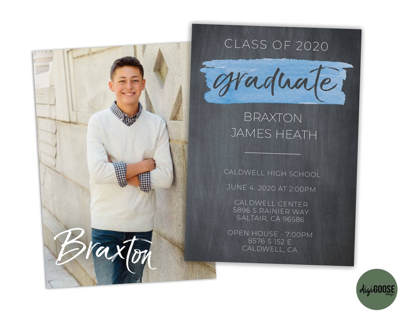 Photo Graduation Announcement EDITABLE Graduation Party Invitation Graduation Announcement Instant Download Graduation Invitation DIY