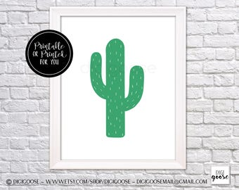 CLEARANCE // Instant Download // cactus print, cactus plant art, cactus download, cactus wall decor, cactus wall art, cactus plant decor