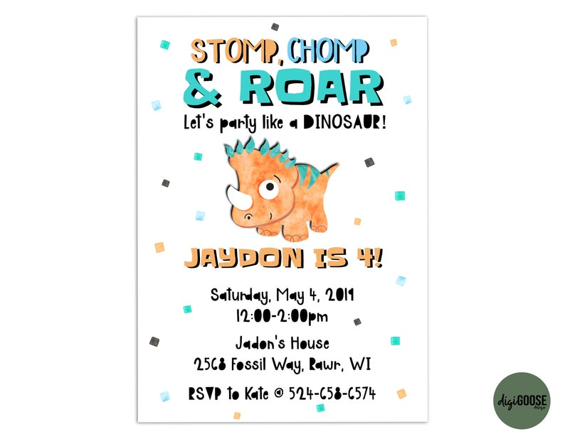 image relating to Dinosaur Template Printable called DINOSAUR Invitation TEMPLATE, Printable Dinosaur Birthday Invite, Dinosaurs, Dinosaur Get together, Dino Get together, Do-it-yourself, Immediate Down load, Templett,