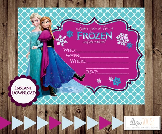 5bbf776db 50% off INSTANT Download FROZEN Birthday Party