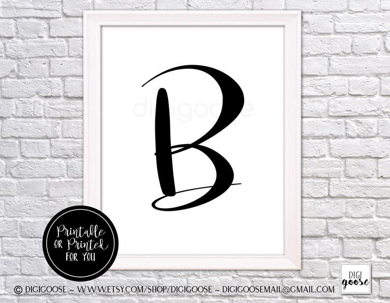 CLEARANCE // B MONOGRAM print // nursery decor // girls poster, monogram  for girl, glamour letter, letter wall art, letter B art, B wall art