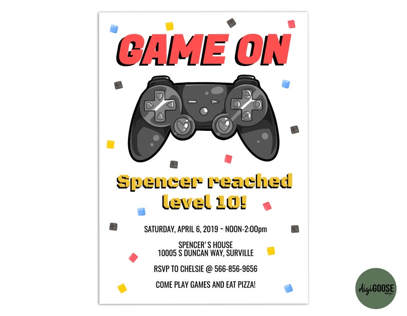 image about Printable Video identify EDITABLE, Online video Recreation Invitation TEMPLATE, Printable Online video Video game Birthday Invite, Video game Truck, Arcade Invitation, Do it yourself, Fast Down load, Edit