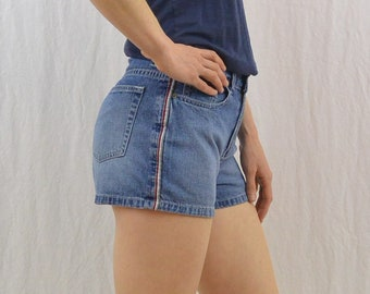 Vintage Side Striped Shorts, Size XS, Grunge, Sporty, 90's, Y2K, Tumblr Clothing