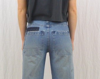 Vintage Skater Jeans, Baggy, Size XS, Grunge, 90's, Y2k, Tumblr Clothing, AVIREX, Boys Jeans