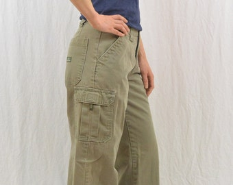 Vintage Army Green Cargo Pants, Size Small, Jordache, 90's Clothing, Grunge, Tumblr Clothing, Skater, Outdoor Clothing