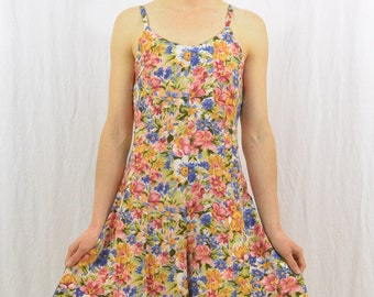Vintage Floral Romper, Size XS-Small, Grunge, 90's Clothing, My So Called Life, Tumblr Clothing, Summer Clothing, Mori Girl