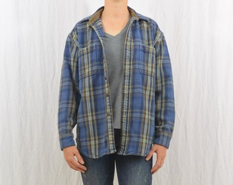 Vintage Flannel Shirt, Size Medium, Thick Flannel, Workwear, 90's Clothing, Farmer, Rustic, Men's Flannel