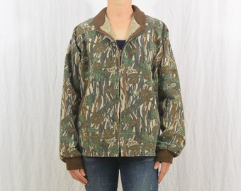 Vintage Camouflage Jacket, Size Small, Men's, Unisex, Hunting, Outdoor Clothing, Tumblr Clothing, On Trend