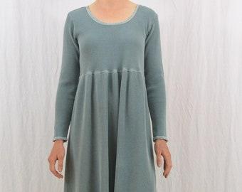 Vintage Thermal Babydoll Dress, Size Medium-Large, Grunge, My So Called Life, 90's Clothing