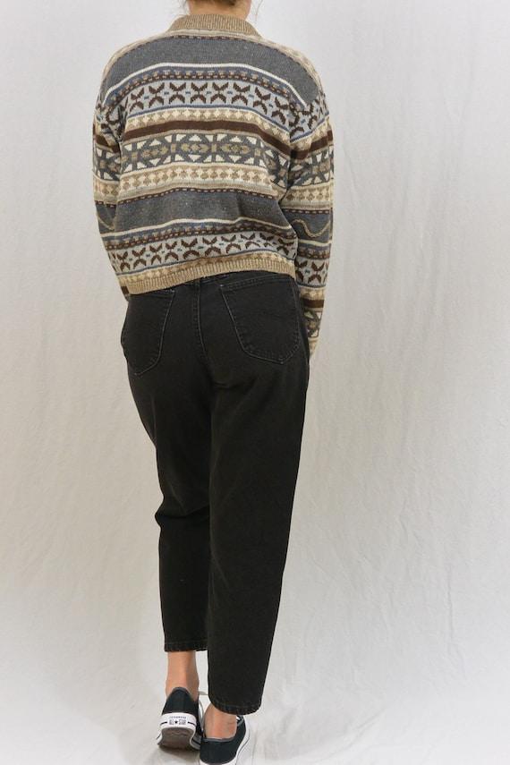 Vintage Cropped Nordic Cardigan, Small Cardigan, … - image 3