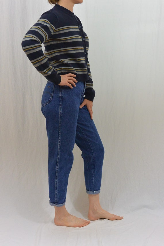 Vintage Striped Cardigan, 90's Aesthetic, XS-Smal… - image 2