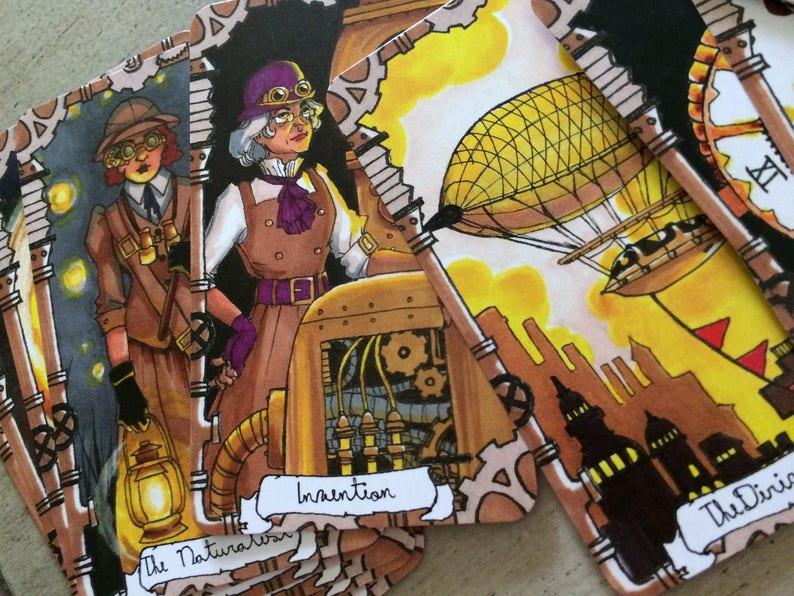 Steampunk Tarot Cards  Major Arcana image 0