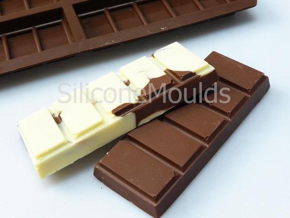 10 células 5 Chunk sección de barra de chocolate 35g Candy Profesional De Silicona Molde n075