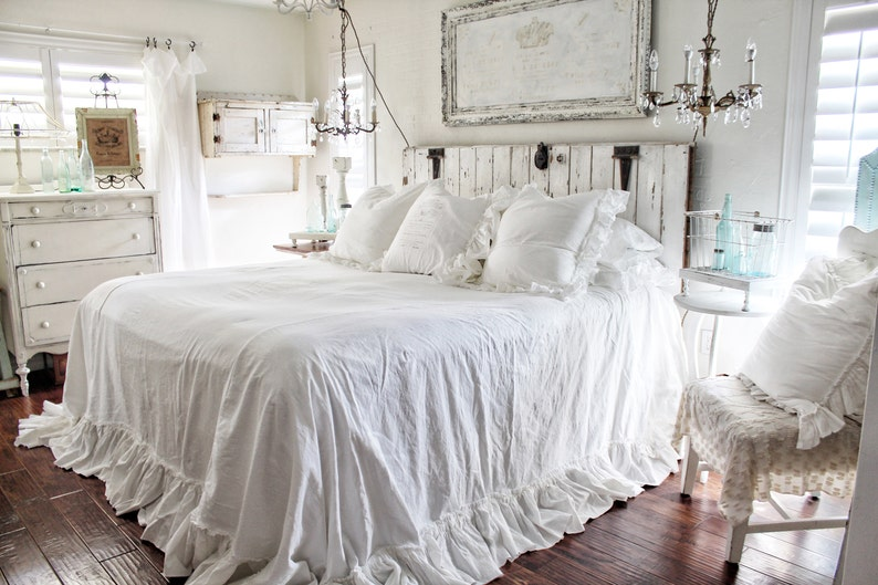 Fabulous Ruffled Bedspread Shabby Chic Bedding Ruffled Bed Cover Ruffled Coverlet Ruffled Bedding Linen Bedding Ruffled Bedding Download Free Architecture Designs Intelgarnamadebymaigaardcom