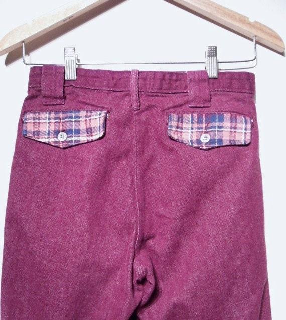 Vintage 1960s Pants - 60s Bell Bottoms - Purple L… - image 3