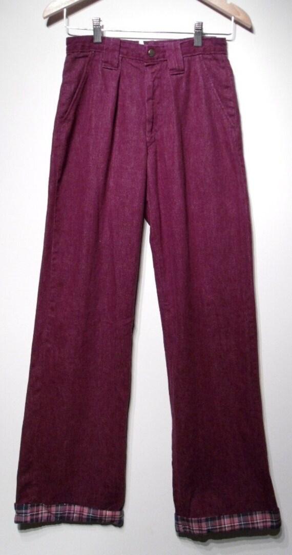 Vintage 1960s Pants - 60s Bell Bottoms - Purple La