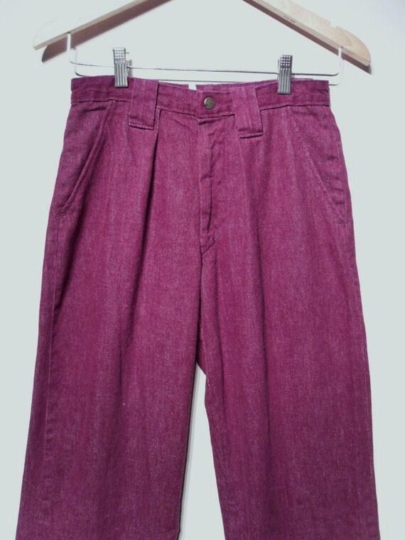 Vintage 1960s Pants - 60s Bell Bottoms - Purple L… - image 5