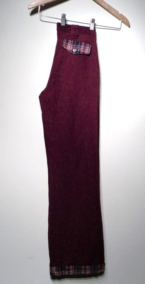 Vintage 1960s Pants - 60s Bell Bottoms - Purple L… - image 2