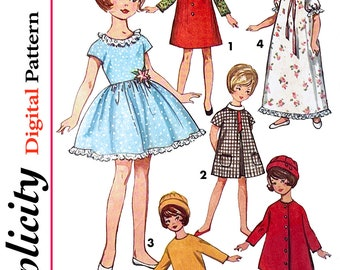 """Vintage Simplicity Pattern 6207 - 8"""" DOLL Pattern from 1965"""