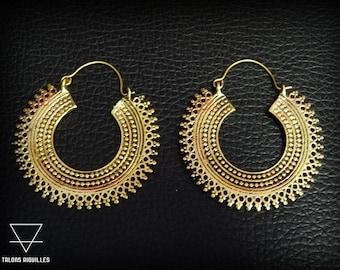 Boucles d'oreille ethniques # boucles tribales # boucles indiennes # bijou ethnique # bijou gypsy  44-637