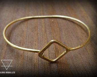 Minimalist bracelet -square bracelet -minimalist jewelry -boho bracelet-bohemian bracelet 23-231