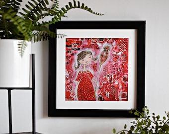 Glicèe Art Print: Poppy