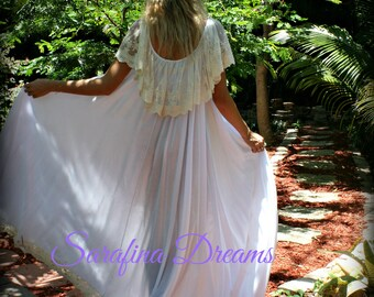 44f07423d8 Bridal Nightgown Cotton Nightgown Lace Bridal Cotton Lingerie Angel Full  Swing Nightgown Wedding Sleepwear White Lingerie