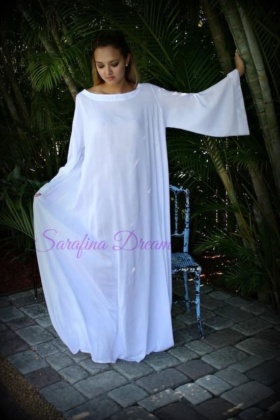 fcc2351e3 Rayon Bell Sleeve Nightgown Angel Lingerie Boatneck Sleepwear