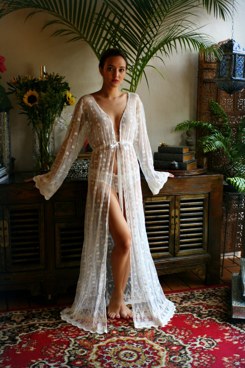 40704185699 Embroidered French Lace Bridal Nightgown Panties Wedding