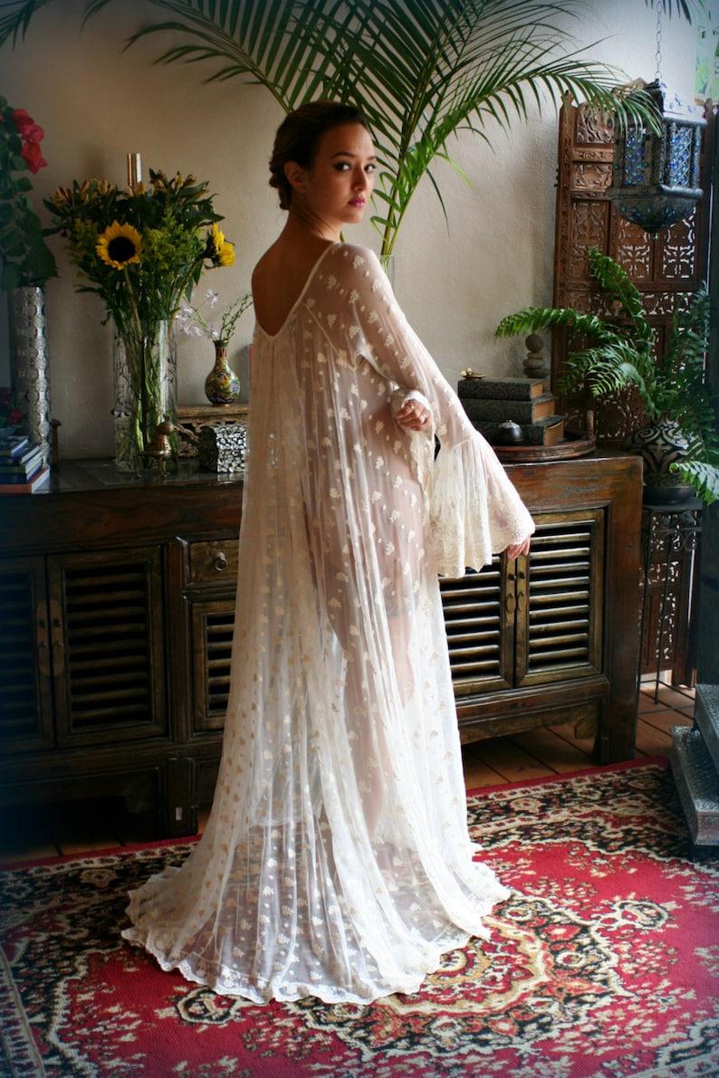 afa4f8b4e8 Ivory Lace Bridal Nightgown Full Swing Poets Ruffled Lingerie