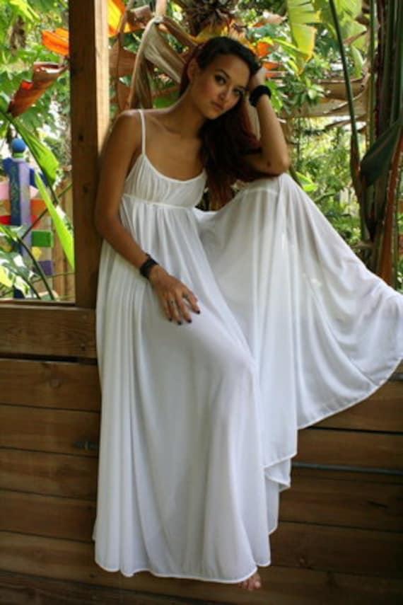 100% Cotton Nightgown Grecian Empire Bodice Full Sweep Bridal | Etsy