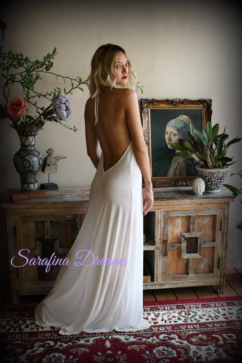 3a33baed357 Bridal Silk Knit Backless Nightgown Wedding Lingerie Bridal