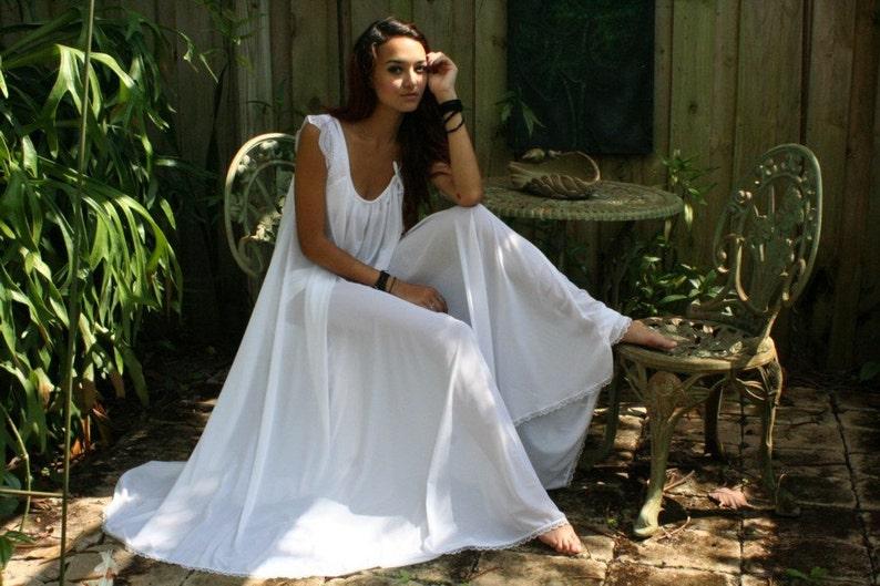 ec6b607c7 Bridal Nightgown Wedding Lingerie Full Swing White Nylon