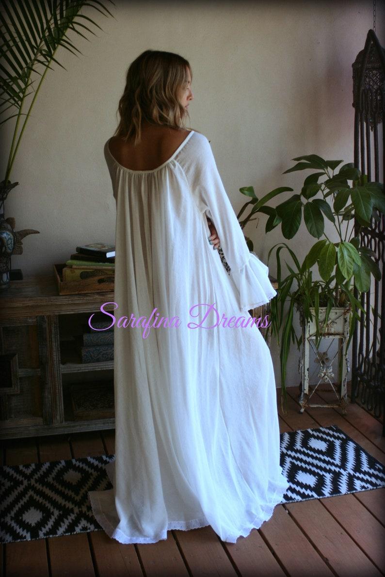 100% Cotton Nightgown Long Sleeve Jane Austen Full Sweep  3b7292ad4