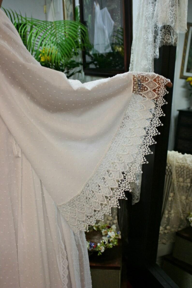 White Cotton Robe Dotted Swiss Robe Bridal Lingerie Wedding White Robe White Sleepwear White Lingerie Cotton Sleepwear Cotton Lingerie