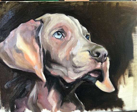 9x12 pet portrait, oil painting, commission
