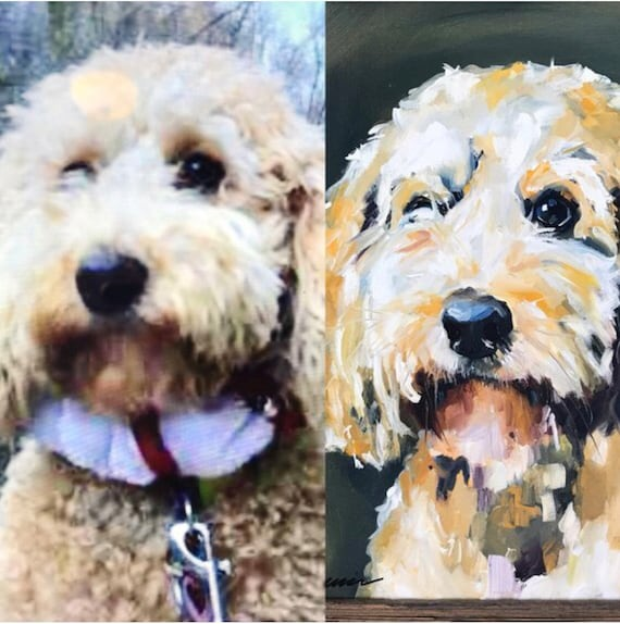 18x24 pet painting, oil, one pet