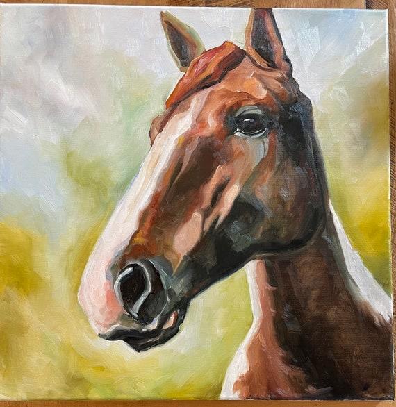 Brown horse, 20x20