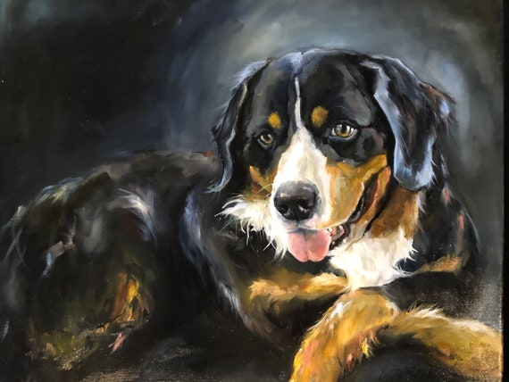 12x12 pet paiting, oil on canvas