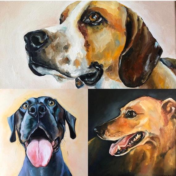 11x14 Pet portrait, oil paintings