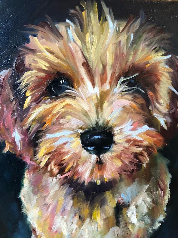 16x20 pet portrait, oil painting, one pet