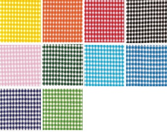 Oilcloth By The Yard Gingham Your choice of Color