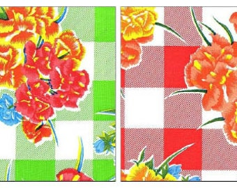 Gingham and Flowers By The Yard You Choose the Color