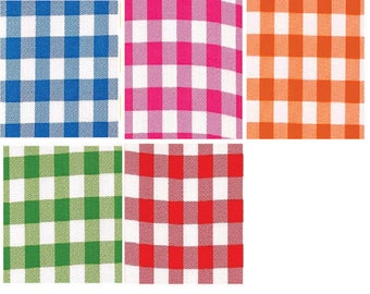 OilclothByTheYard    Large Gingham   Your choice of Color