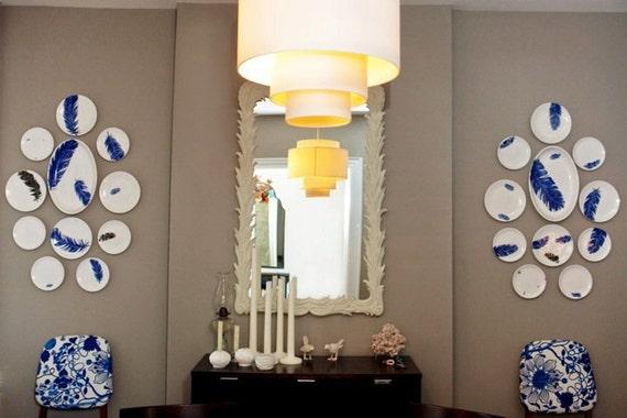 Plate Wall Dining Room Installation Interior Design Wall Etsy