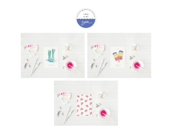 Greeting Card, 3 pack Summer Love Theme