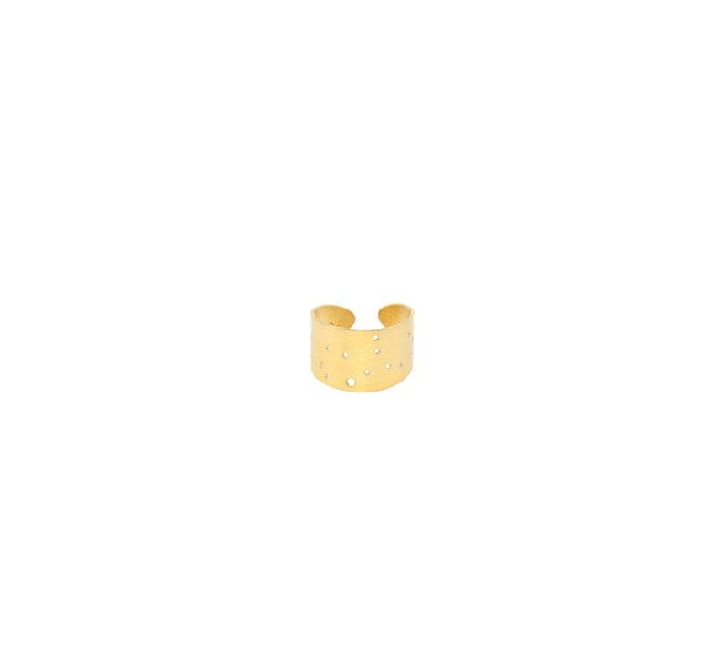Virgo 14kt Gold Dipped Zodiac Constellation Ring