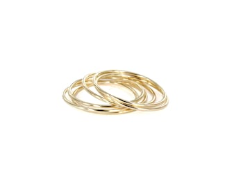 Forget Me Not Ring(s), Sterling Silver or 14k Yellow Gold (sold individually or set of 6)