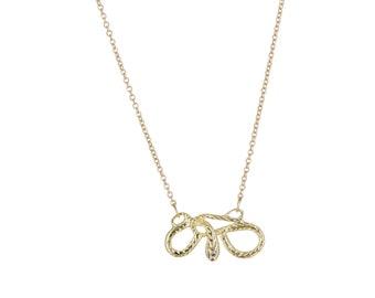 Horizontal Diamond Serpent Necklace
