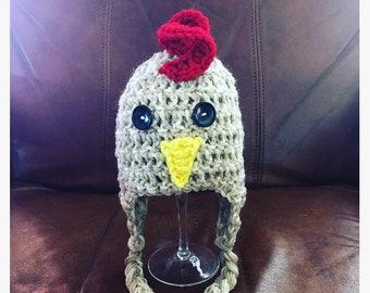 Crochet Chicken Hat Etsy